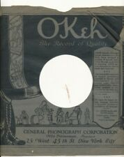 78 RPM Company logo sleeves-PRE-WAR-OKEH-record of quality