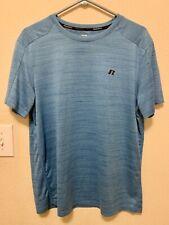 Russell Mens Dri Power 360 Active Wear T Shirt Blue Size L