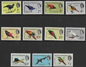 British Honduras 1962 QEII Birds - SS to $2 - MH