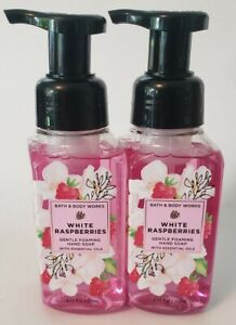 BATH & BODY WORKS (LOT OF 2) WHITE RASPBERRIES GENTLE FOAMING HAND SOAP 8.75 OZ