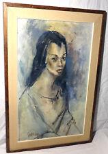 STANLEY SOBOSSEK Original OIL ON BOARD Painting - Listed Artist - Framed - stan
