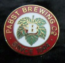Vintage Pabst Brewing Company Enamel Beer Button Pin Pinback Hat Lapel Shirt