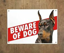 DOBERMANN 9 Beware of dog sign metal