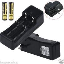 Dual Batterie Ladegerät Für 18650 16340 26650 Wiederaufladbare 3.7V Li-ion EU