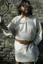 Medieval Style Tunic Top,  Re-enactment Viking, LARP, Freesize - Off white