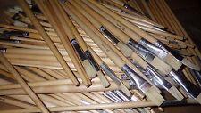 JOB LOT 100 assortiti Harris Artista Spazzole manico lungo in legno tondo piatto Art