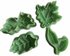Leaf Leaves Plunger Cookie Cutter 4 pc Set - NEW