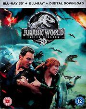 Jurassic World -Fallen Kingdom 3D & Blu Ray -NEW -Slipcase (Chris Pratt/Park)