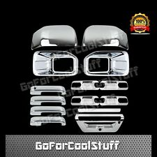 15-16 FORD F150 Fog Light/Mirrors 4 Door Handles 4 Bowls Tailgate Chrome Cover