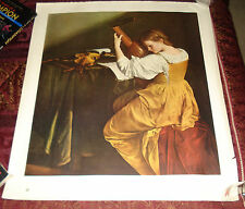 The Lute Player Poster Litho (?) Orazio Gentileschi  (Mellon Bruce)