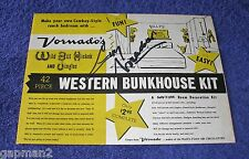 Vintage 1950's Guy Madison Wild Bill Hickok Western Bunkhouse Kit Signed Cover