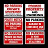No Parking / Private Property - 3mm Metal Sign - 3 Sizes
