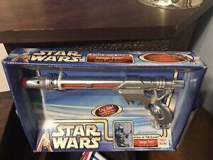 Hasbro Star Wars Attack of the Clones Jango Fett Sound and Light Blaster