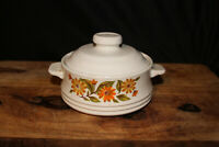 Vintage Capri Bake Serve 'N Store Stoneware Individual Casserole Dish With Lid