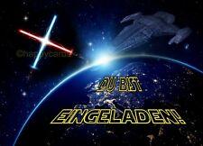 8 Einladungskarten Star Geburtstag Jungen Weltall Party Einladungen Wars Galaxie