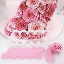 3D Rose Fondant Blumen Cutter Ausstecher Kuchenform Tortendeko Sugarcraft Mould