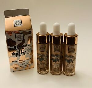 3X The Beauty Crop Glow Milk Coconut And Argan Oil 0.53 oz (Lot of 3)