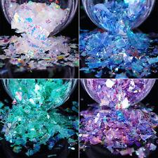 2Boxes Nail Glitter Sequins Flakies Fluorescent Glass Paper Paillette Nail Art
