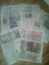 """GENERAL DE GAULLE 5 REVUES 1970  JOURNAL L """"ARDENNAIS  ICI PARIS NoSp"""