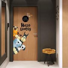 Cartoon Animal Wall Stickers for Kids Room Nursery Home Decor Sticker Door Decal