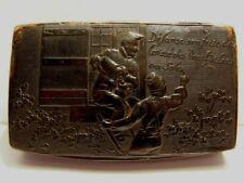 ART POP ANCIENNE TABATIERE HUMORISTIQUE ANALPHABETE CERISES ANTIQUE SNUFF BOX
