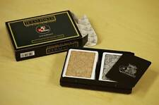 Modiano Texas Poker Jumbo Index Brown & Black Plastic Playing Cards Set