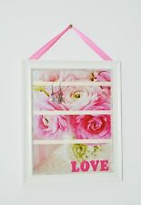 Women girls earring hair clip holder organizer wall hanging handmade