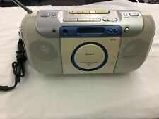 Sony Cfd-E100 Cd Radio Cassette Boombox Cd-R/Rw Playback Tests Great