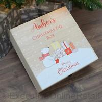 Personalised Wooden Christmas Eve Box - Luxury Printed Xmas Box - Polar Bear