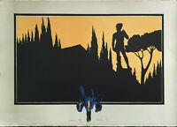 Wolfgang Schroder litografia David 1972 65x46 firmata numerata 47/65 pubblicata