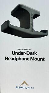 ElevationLab 'The Anchor' Under-Desk Universal Headphone Mount Black New