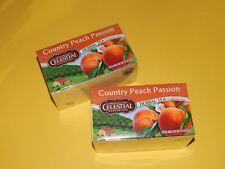 2 PACK Celestial Seasonings Country Peach Passion Herbal Tea Bags
