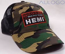 Hat Cap Dodge Ram Hemi Grab Life By The Horns Camo Black Mesh SLW