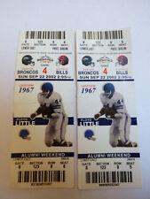 Lot of 2 Game 4 2002 Denver Broncos vs Buffalo Bills Game Ticket Floyd Little
