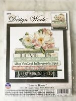 Design Works Love Is Books #2979 Counted Cross Stitch Kit - NEW Sealed