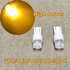 PARKING LIGHT Ceramic T10 W5W 168 175 194 2825 921 SMD LED AMBER bulb W1 J