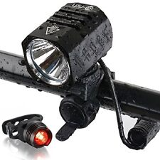 Te-Rich USB Rechargeable Bike Lights 1200 Lumens CREE XM-L2 Bright LED