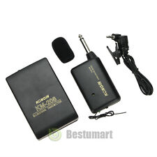 Wireless FM Transmitter Receiver Lavalier Lapel Clip Microphone Mic System USA