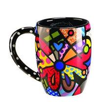 Romero Britto Round Butterfly Mug Cup Coffee Drink Tea Ceramic Giftcraft Decor !
