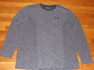 NEW UNDER ARMOUR HEATGEAR LONG SLEEVE GRAY FITTED JERSEY MENS 3XL
