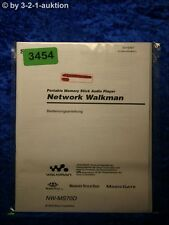 Sony Bedienungsanleitung NW MS70D Network Walkman (#3454)