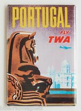 Portugal Travel FRIDGE MAGNET (2.5 x 3.5 inches) TWA poster vacation holiday