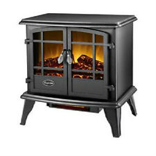 Keystone Fireplace Infrared Stove Heater Electric Comfort Glow Black