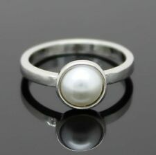 Pearl Silver Plated Fashion Rings