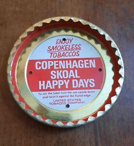 NOS Vintage Copenhagen Skoal Happy Days Smokeless Tobacco Lid Cutter