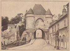 G2227 France - Laon - La porte d'Ardon - Stampa d'epoca - 1936 vintage print