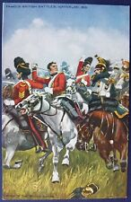 Famous British Battles, Waterloo, 1815, Charge of the Scots Greys. Oilette 9135.