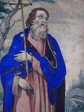 Ancienne gravure peinture religious Saint Philippe Old engraving painted XIX