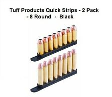 Tuff Products 38 357 40 Speed Quick Strip Revolver Loader 8 Round - 2 Pack Black