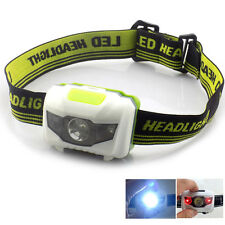 Mini Headlamp white Red Led light AAA Battery Frontal Lampe Torch for Hunting